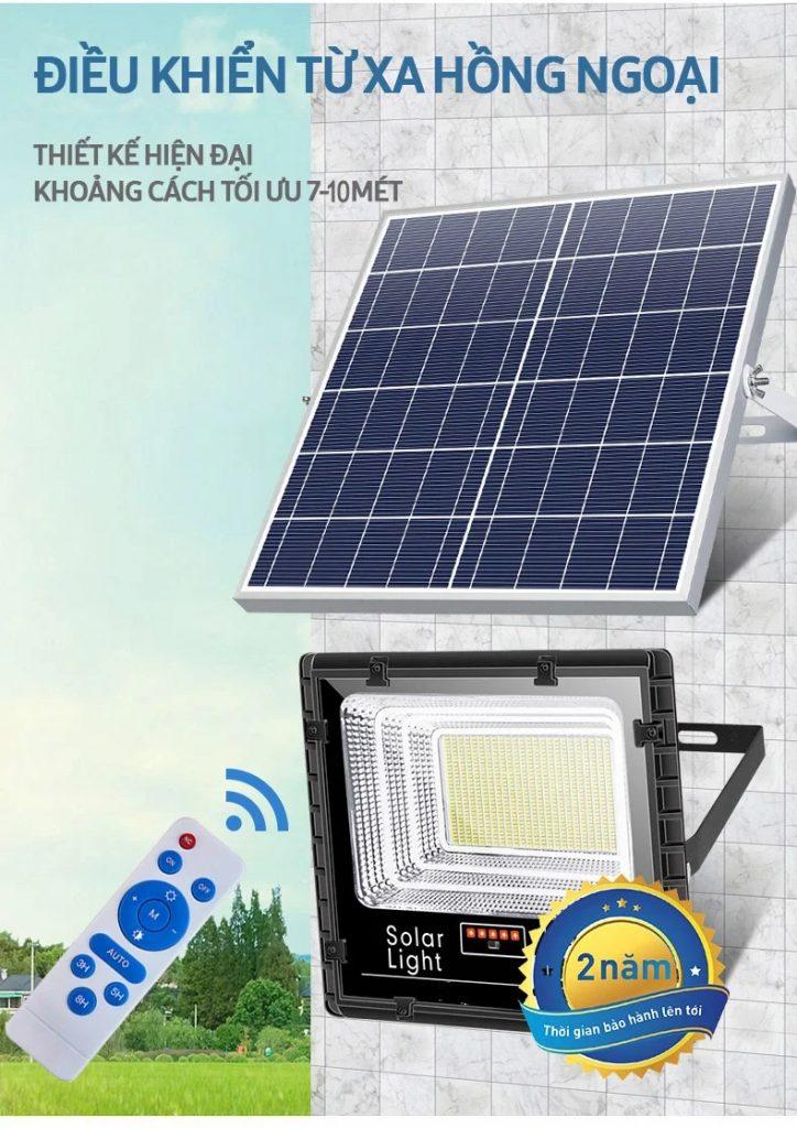 hệ thống điều khiển từ xa của đèn pha led năng lượng mặt trời 100W